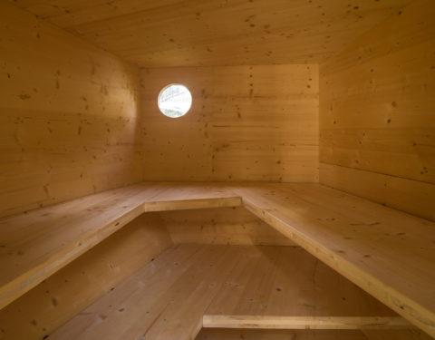 Sauna im Garten, Holzbau
